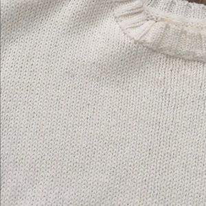 April Spirit Tops - April Spirit cropped cream colored sweater top